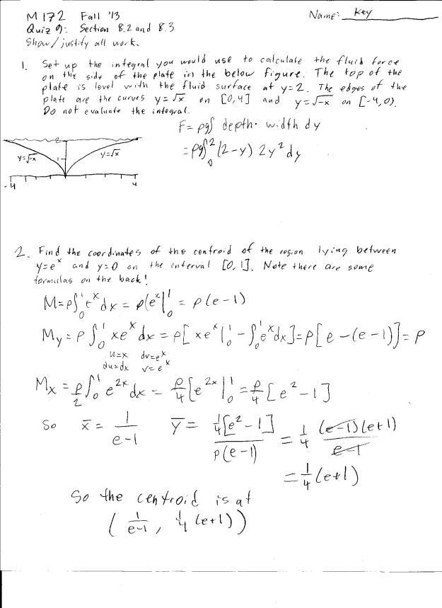 m172 quiz 9 solution