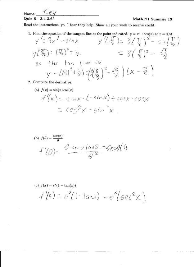 quiz 6 solution