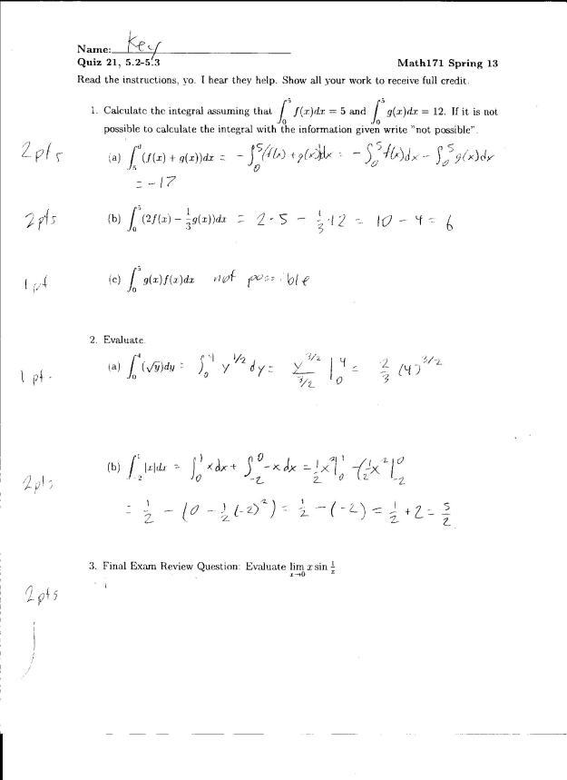 quiz 14 solution