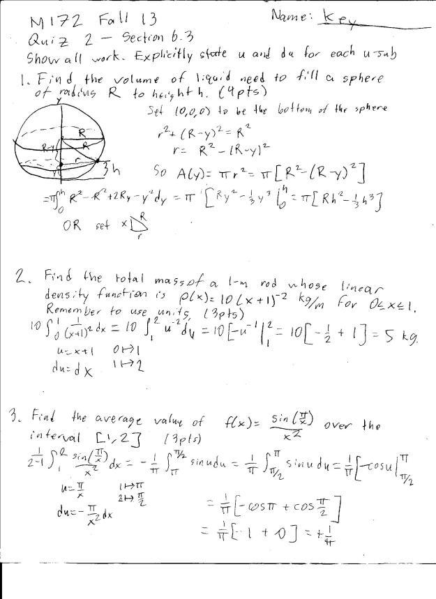 m172 quiz 2 solutions