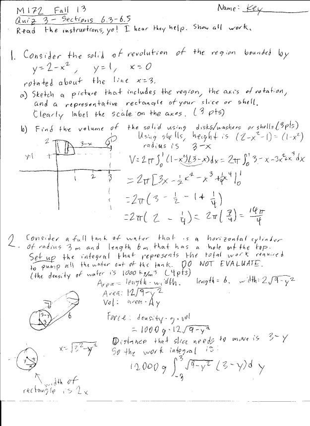 m172 quiz 3 solutions