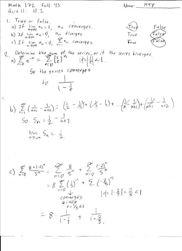 m172 quiz 11 solution