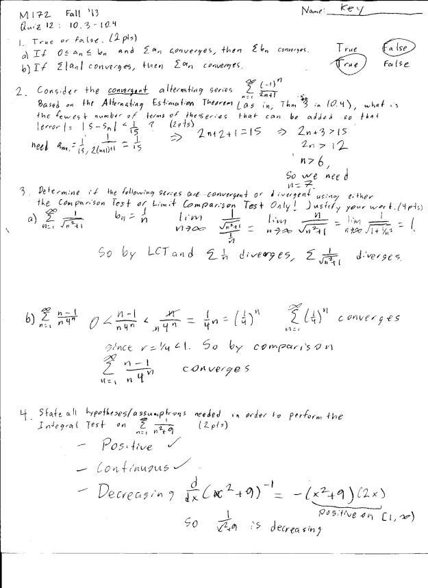m172 quiz 12 solution