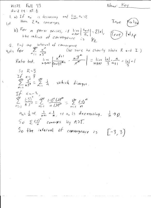 m172 quiz 14 solution