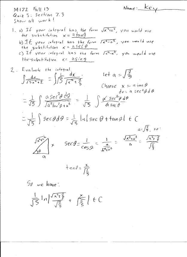m172 quiz 5 solution