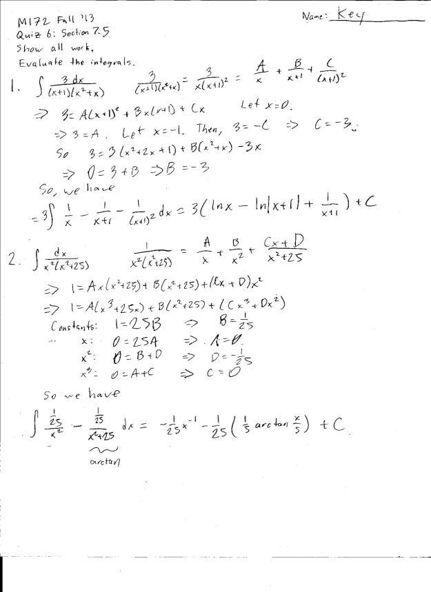 m172 quiz 6 solution