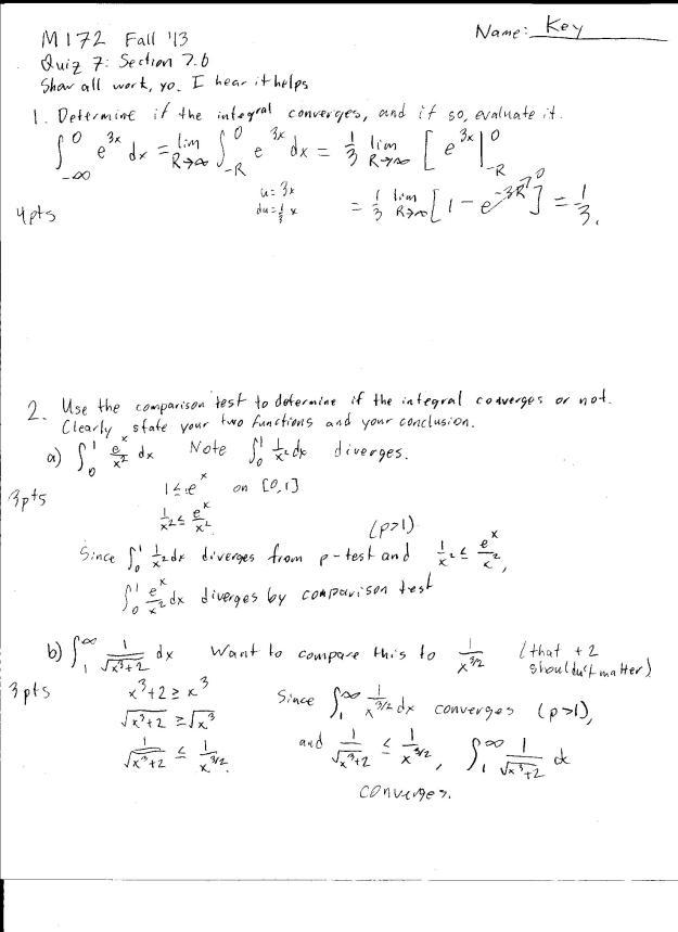m172 quiz 7 solution