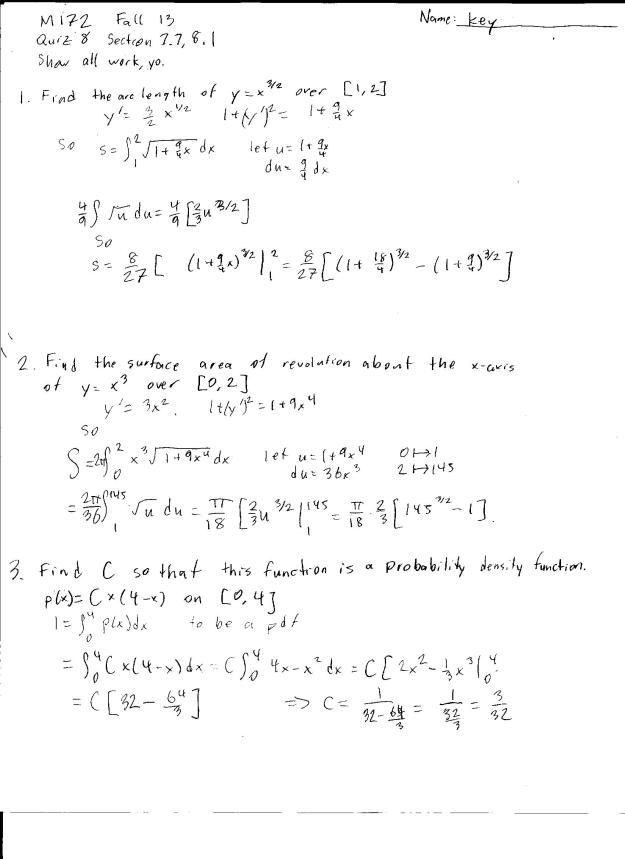 m172 quiz 8 solution